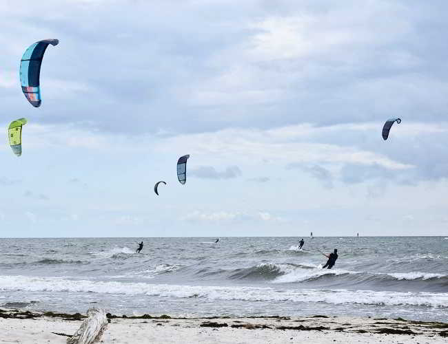 Surfing at Bornholm's beaches